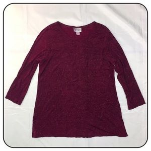 Maggie Sweet Large Maroon & Silver Flakes Tunic